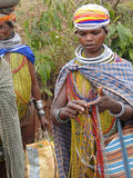 Bonda tribal women pose Royalty Free Stock Photo
