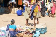 Bonda woman in the Onokudelli Market Royalty Free Stock Image