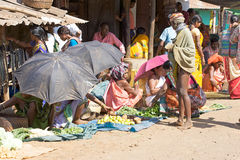 Bonda woman in the Onokudelli Market Stock Image