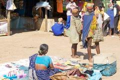 Bonda woman in the Onokudelli Market Royalty Free Stock Photography