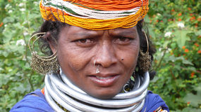 Bonda woman. Orissa. India Stock Images
