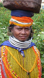 Bonda woman. Orissa. India Royalty Free Stock Photo