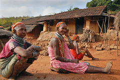 Bonda women at their village Royalty Free Stock Photo