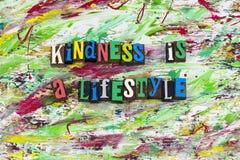 A bondade é ajuda do estilo de vida foto de stock