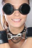 Bondage. Rockstar in glasses, s&m, bondage, metal Royalty Free Stock Photos