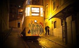 Bonde amarelo de Lisboa Imagem de Stock