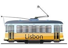 Bonde amarelo de Lisboa ilustração royalty free