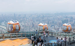 Bonde da bolha da torre do cantão, Guangzhou foto de stock