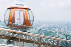 Bonde da bolha da torre do cantão, Guangzhou fotografia de stock