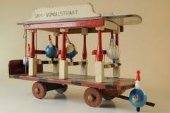 Bonde de madeira do brinquedo Fotos de Stock