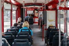Bonde do transporte público do interior Imagem de Stock Royalty Free