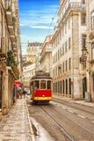 Bonde do vintage em Lisboa Foto de Stock