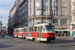 Bonde do vintage na cidade de Praga Fotografia de Stock