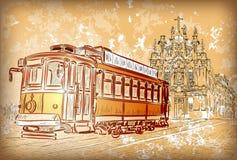Bonde em Porto, Portugal ilustração stock