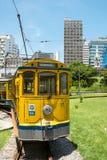 Bonde famoso de Lapa ao distrito de Santa Teresa, Rio de janeiro Imagem de Stock