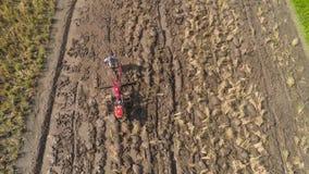 Bonde i risfältet indonesia lager videofilmer