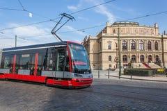 Bonde moderno em Praga Imagem de Stock Royalty Free