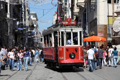 Bonde velho em Istambul, Turquia Imagem de Stock