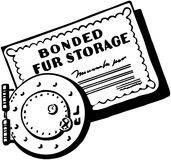 Bonded Fur Storage Stock Image