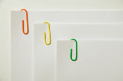 Bonded paper clips Stock Image