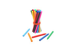Bonded rubber band markers and pencils. Royalty Free Stock Photography