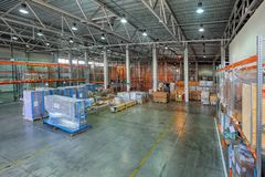 Bonded warehousing, temporary storage goods under customs contro Stock Image