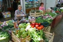 Bondemarknad i kluven Kroatien Arkivbild
