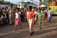Bonderam 2016年节日在果阿,印度1 库存图片