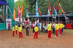 Bonderam festival 2016 i Goa, Indien royaltyfri bild
