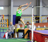 Bonderenko Bogdan wins second place the high jump Royalty Free Stock Photography