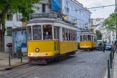 Bondes históricos em Lisboa Fotos de Stock Royalty Free