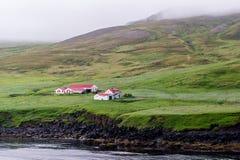 Bondgård i Island Arkivbild