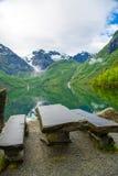 Bondhusvatnet湖,挪威 免版税库存图片