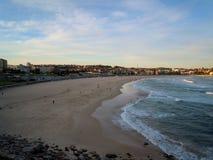 Bondi海滩全景 库存照片