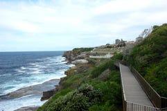 Bondi à caminhada litoral de Coogee, Sydney, Austrália. fotografia de stock