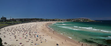 Bondi Beach. A panorama picture of Bondi Beach, Sydney, Australia Stock Photo
