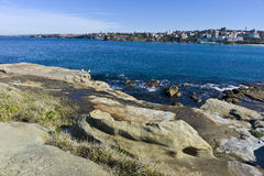 Bondi Beach. A sea view from Bondi Beach Sydney Australia Royalty Free Stock Photos