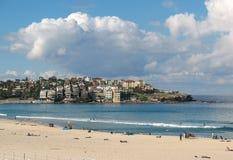 Bondi Beach, Australia. Bondi Beach cliffside houses and apartments Stock Photos