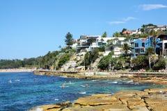 Bondi Beach, Australia. 15 january 2015. A view of the road from Bondi to Bronte beach Royalty Free Stock Photos