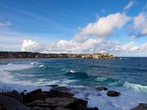 Bondi Beach cloudy day Royalty Free Stock Photography