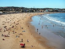 Bondi Beach, Late Afternoon. Iconic Bondi Beach, Sydney, Australia, late in the afternoon. Bondi is Australias most famous and popular beach, and is a haven for royalty free stock image