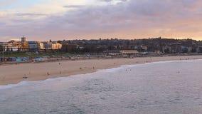 Bondi Beach morning view stock video footage
