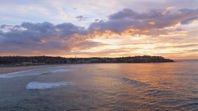 Bondi Beach morning view stock footage