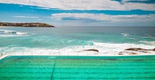 Bondi Beach open swimming pool Stock Photos