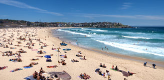 Bondi Beach panoramic Royalty Free Stock Photos
