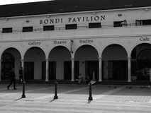 Bondi Beach Pavilion building black and white Royalty Free Stock Photo