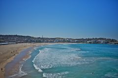 Bondi beach pool in sydney, australia Royalty Free Stock Photo
