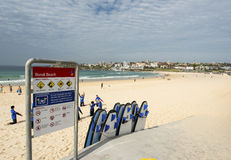 Bondi Beach surf school Royalty Free Stock Photos