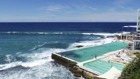Bondi Beach. Swimmingpool Australia Sydney travel Royalty Free Stock Images