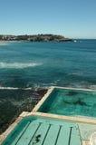 Bondi Beach Sydney. Image taken of simming pool at  Bondi Beach in Sydney Australia Royalty Free Stock Photography